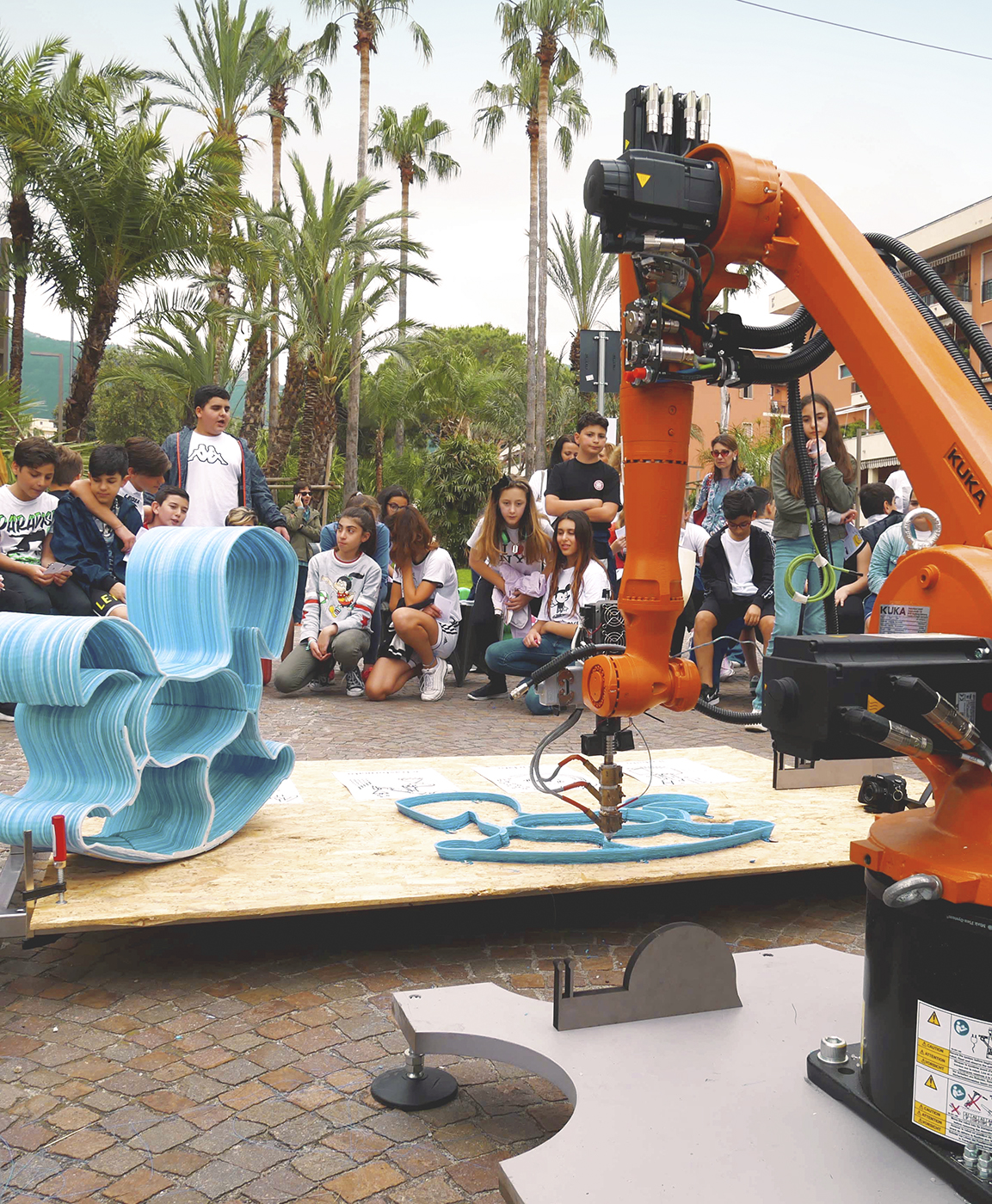 Caracol AM event in Sorrento, live 3D printing
