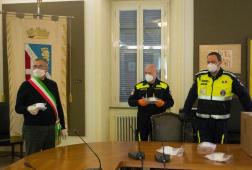 Caracol 3D printed mask kit donation to Comune di Lomazzo