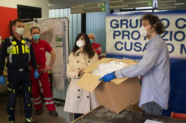 Caracol 3D printed mask kit donation to Comune di Cusano Milanino