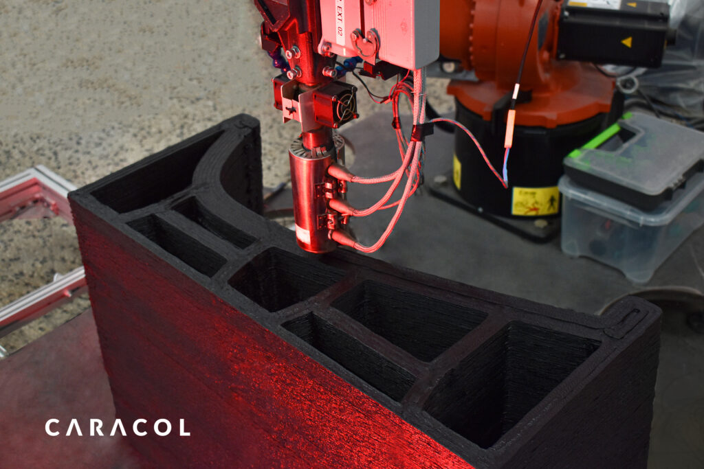 Caracol 3D printing Aerospace Tool with robotic system