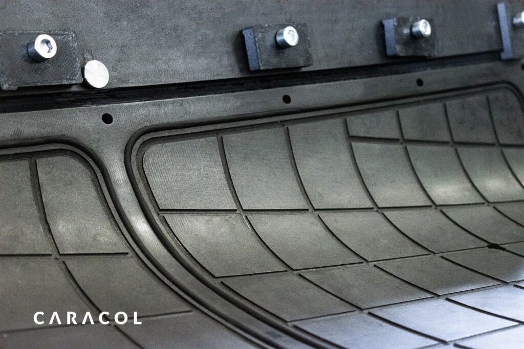 Detail of aerospace tool manufactured by Caracol